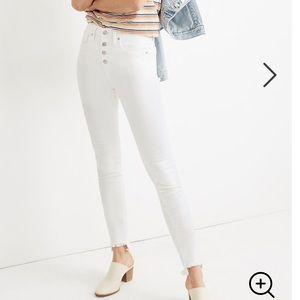 "Madewell 10"" High-Rise Skinny Jeans White"